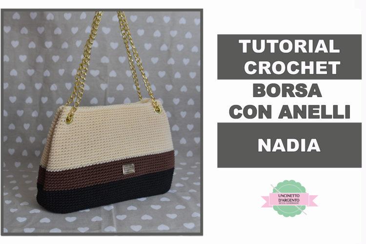 """886e978b5c """"Borsa Nadia"""": come applicare occhielli alle borse ad uncinetto"""